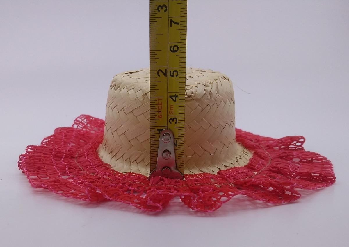 15 chapeu de palha boneca decorado enfeite festa junina. Carregando zoom. 4212b4f82fa