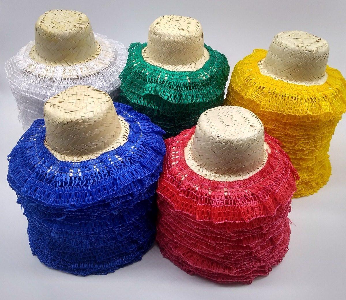 64166dd31c0ce 15 chapeu de palha boneca decorado enfeite festa junina. Carregando zoom.