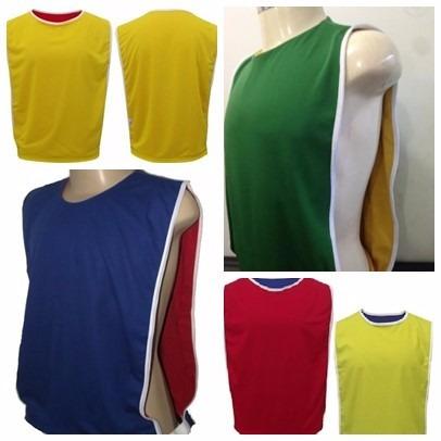 15 coletes dupla face futebol azul vermelho verde amarelo ..