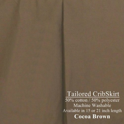 15  de largo tailored cribskirt cuna faldón cocoa brown