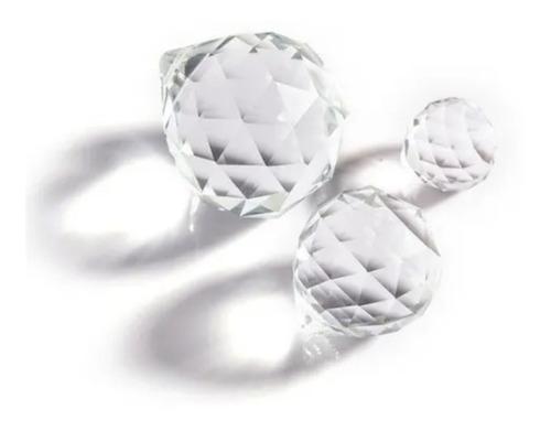 15 esferas de cristal cortado fino de 4x5 cm para decoracion