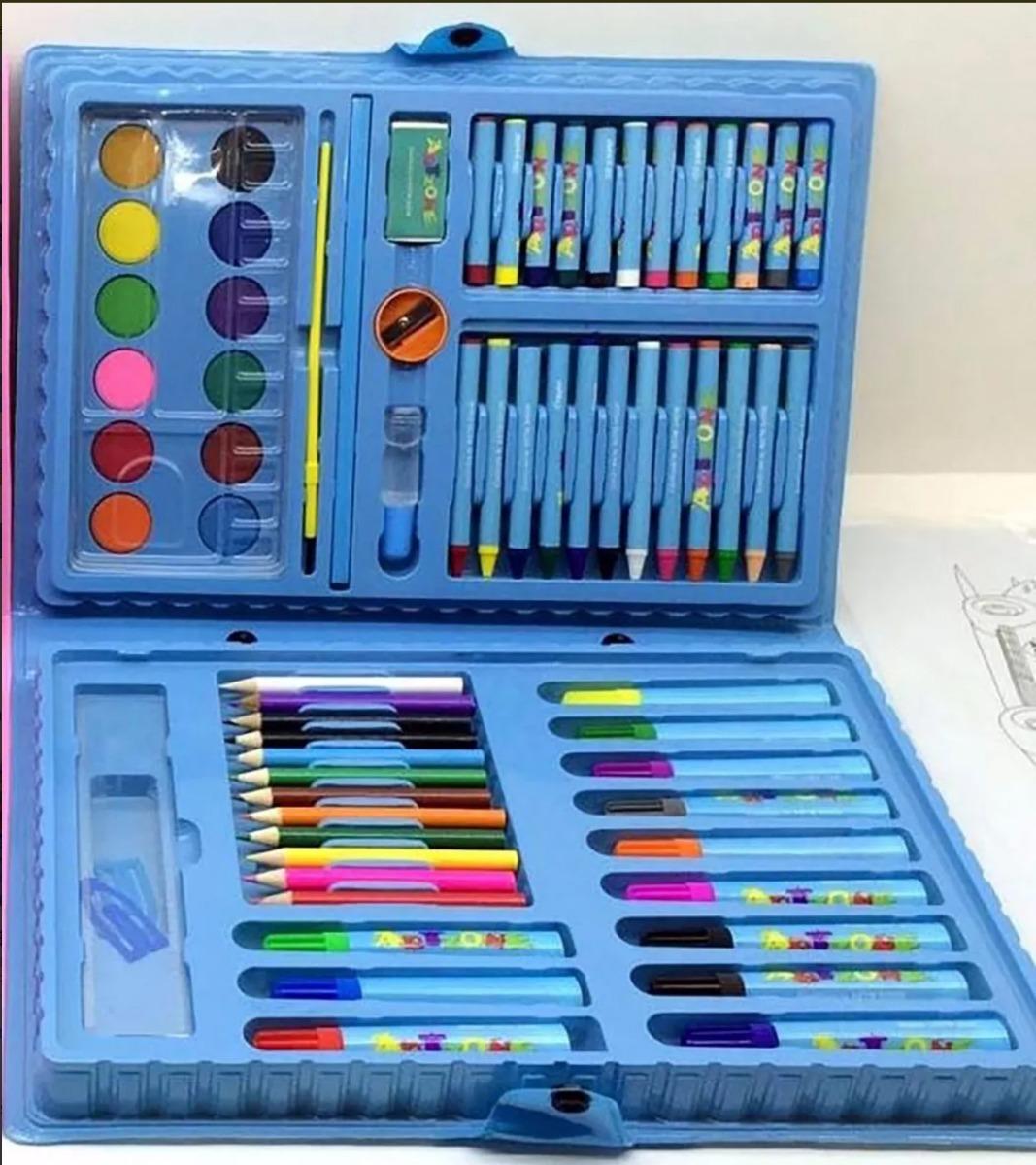 d6de013ee 15 Estojo Maleta Escolar pintura 68 Peças Personalizado - R  419
