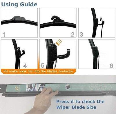 15  flexible limpiaparabrisas frameless goma ventana parabri