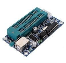 #15- gravador de pic icsp usb picburner k150 socket zif