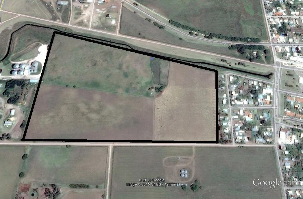 15 hectareas lindera con la ciudad de casbas