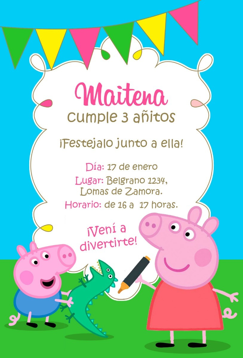 15 Invitaciones Para Cumple Infantil Invitación Digital