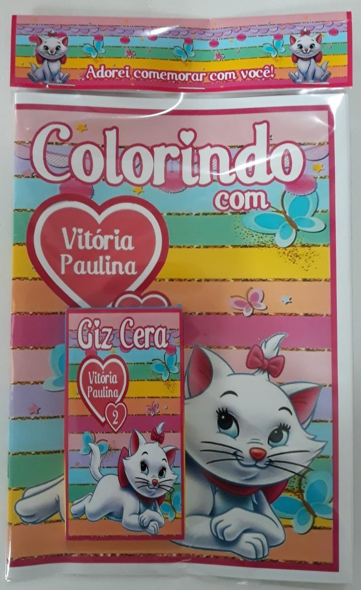 15 Kits Colorir Personalizados Gatinha Marie R 62 40 Em Mercado