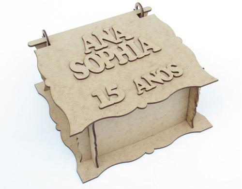 15 lembrancinhas caixinhas personalizadas em mdf cru 15 anos