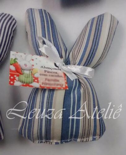 15 lembrancinhas coelhinho de tecido sachê - páscoa