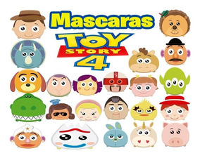 100 Mascaras Antifaces Toy Story 4 Buzz Lightyear Forky