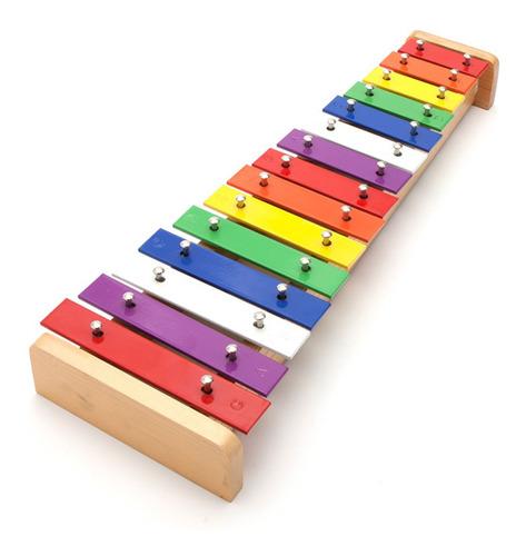15-nota placa de color xilófono piano de aluminio de