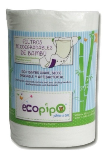 15 pack ecopipo lisos con filtro de bambú msi -10% inlcuido