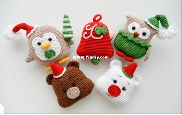 Christmas Friends Pattern | Uncinetto festività, Lavoro a maglia ... | 381x599