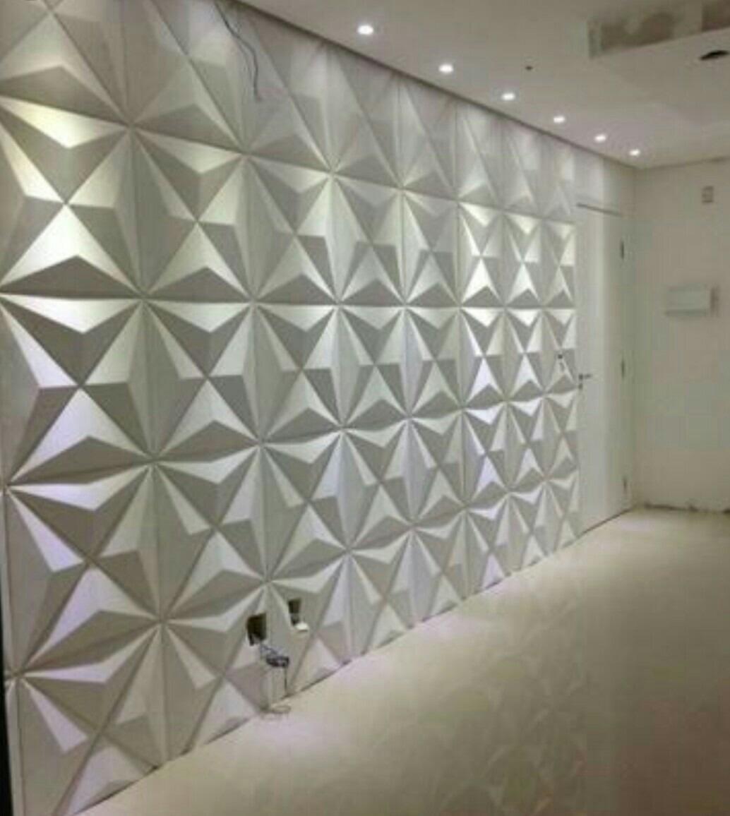 15 placas decorativas 3d revestimento de parede luxo placa r 285 00 em mercado livre - Placas pared decorativas ...