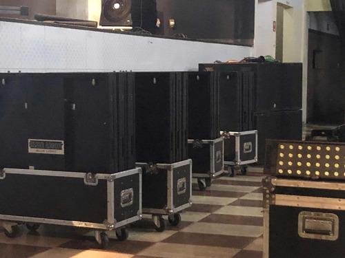 15 placas painel de led p10 (indoor) + send card + cases