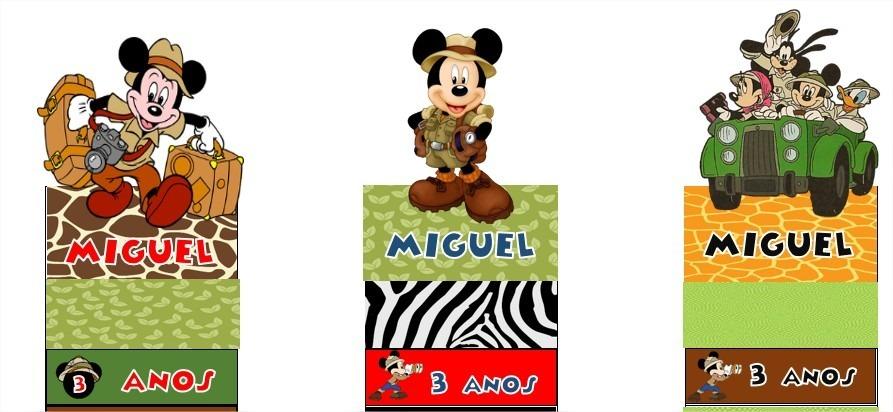 15 Porta Bis Duplo Mickey Safari Personalizado R 2300 Em Mercado