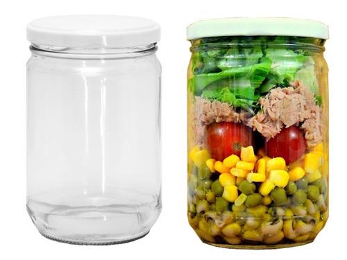 15 pote salada conserva tampa branca 600ml p/ casamento