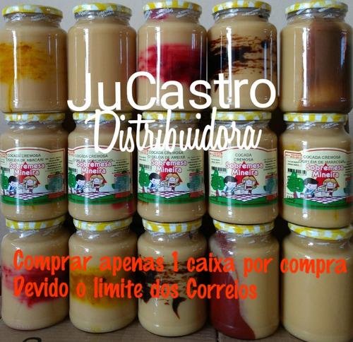 15 potes de cocada branca cremosa sobremesa mineira promoção
