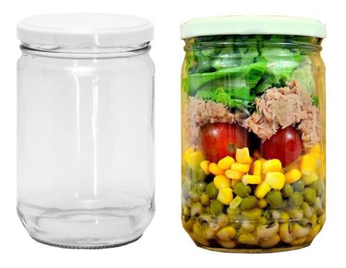 15 potes e salada bolo no pote vidro 500ml/600ml conserva