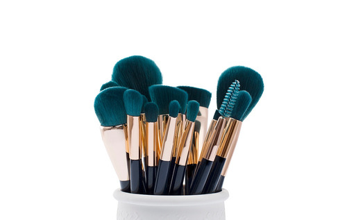 15 pzas pinceles aplicadores de maquillaje + bolsa