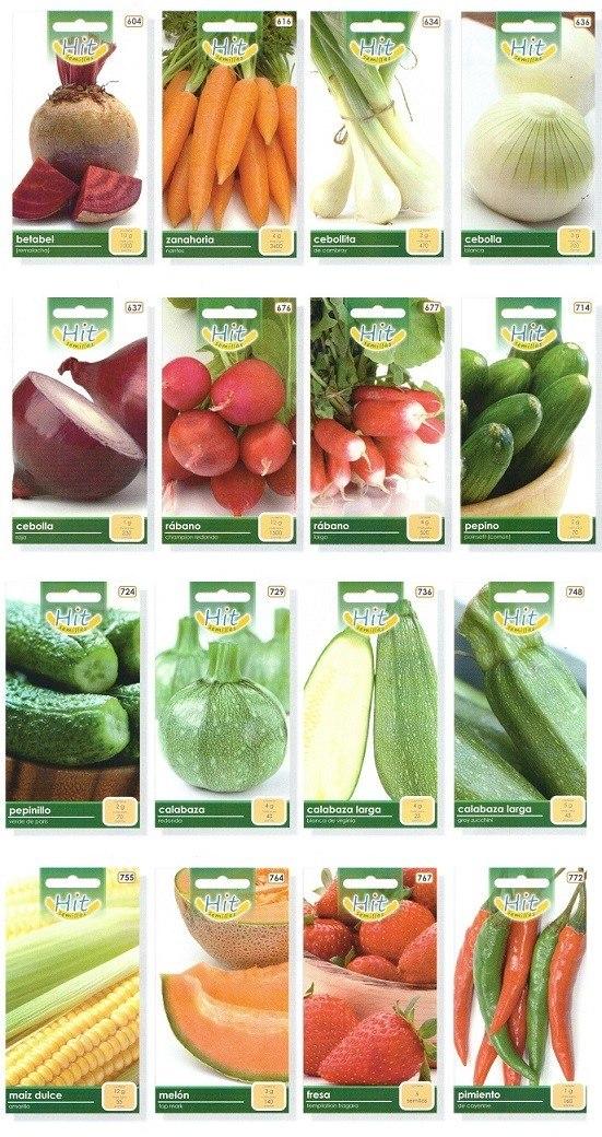 15 sobres de semillas hortalizas flores hortaflor y hit for Semillas de cactus chile