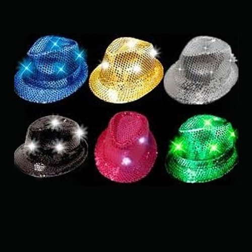 15 sombrero luminoso michel jackson fiesta fedora luz batuca