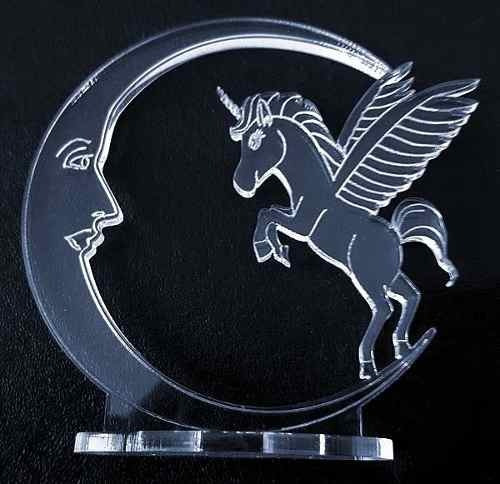 15 souvenirs de acrílico unicornio y luna hada cumpleaños 15