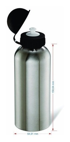 15 squeeze sublimação academia garrafa aluminio 500ml