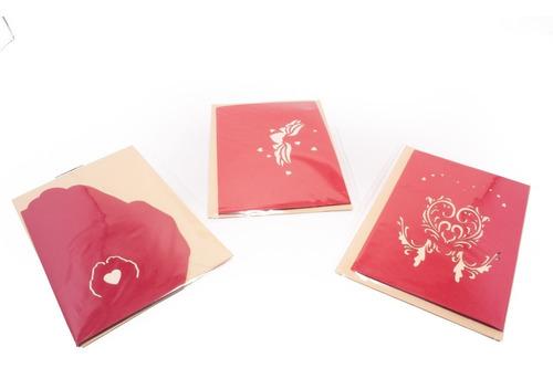 15 tarjetas 3d todo tipo de ocasión amor, madres, amistad