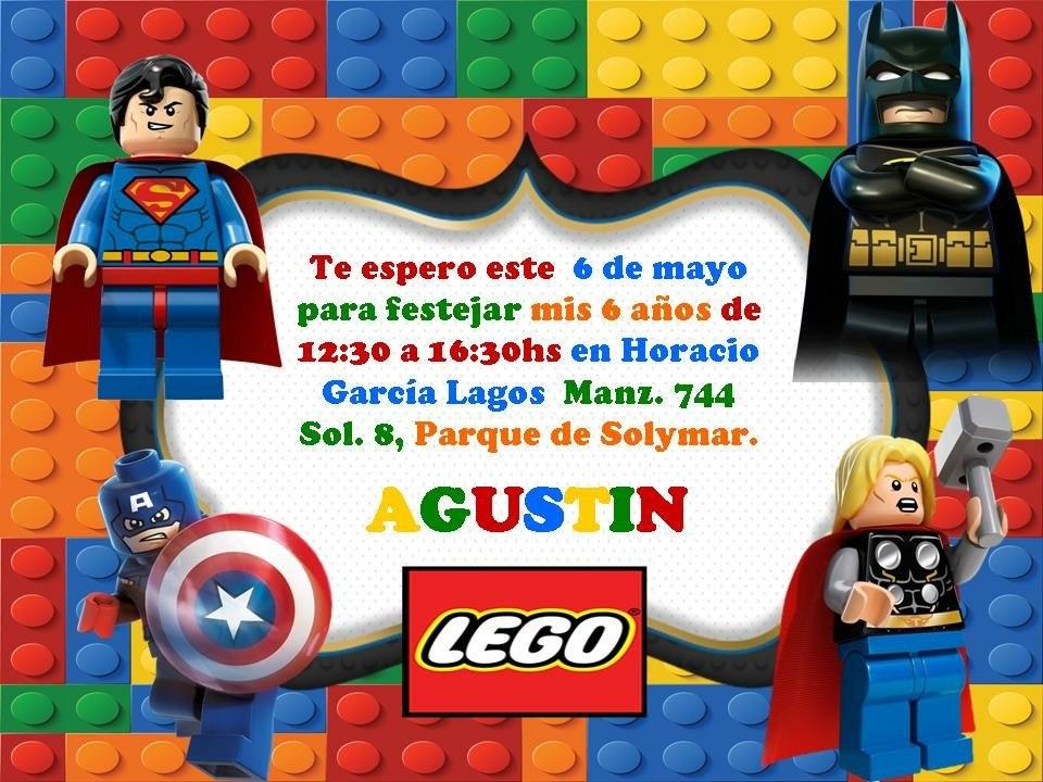 15 Tarjetitas Invitación Cumple Lego Batman Patrulla Canina - $ 150,00 en Mercado Libre