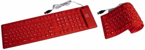 15 teclado flexível silicone resistente aguá usb p/ notebook
