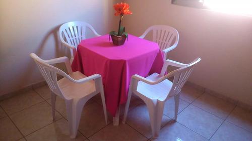 15 toalhas de mesa quadradas 1,50x1,50 oxford p festa/buffet