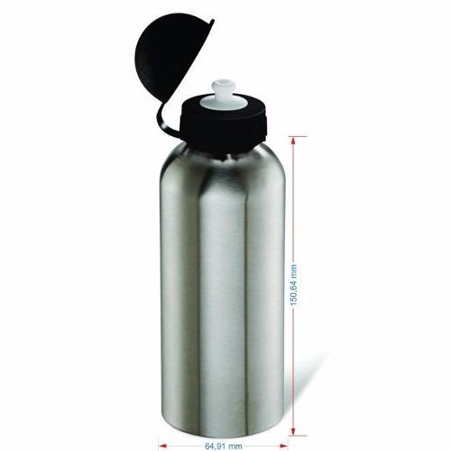 15 un squeeze p/ sublimação academia garrafa aluminio 500ml