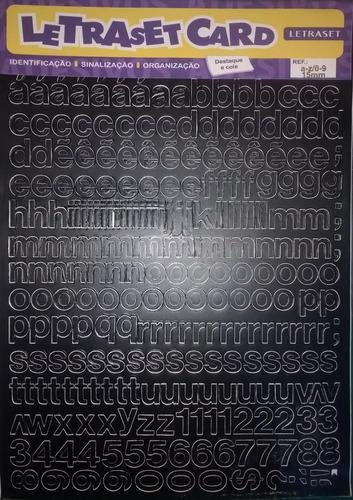 15 uni letraset card letras e números autoadesivos em vinil.