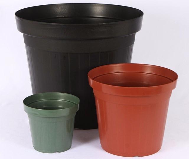 15 vasos grandes 11 5 litros mudas plantas pl stico preto - Plantas de plastico ikea ...