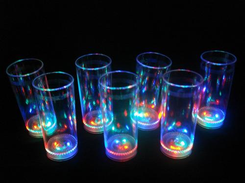 15 vasos luminosos 3 led cotillon eventos luces belgrano