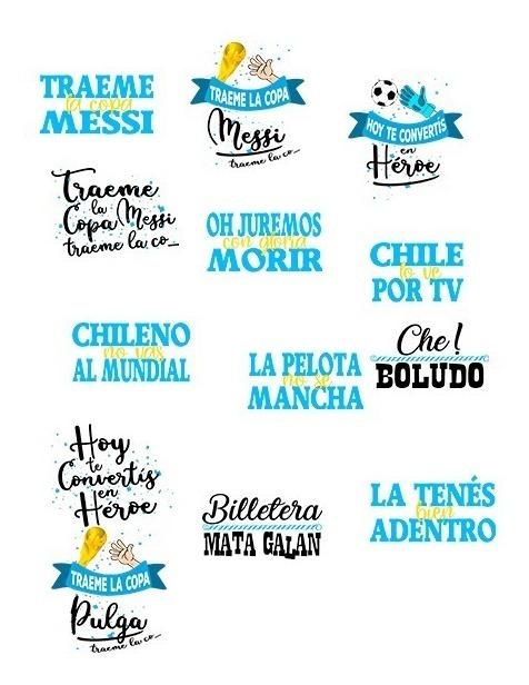 15 Vectores Frases Argentinas Vinilos Sublimacion
