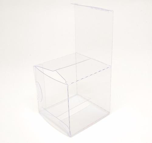 150 caixas p/ macaron transparente pvc 6x6x6cm