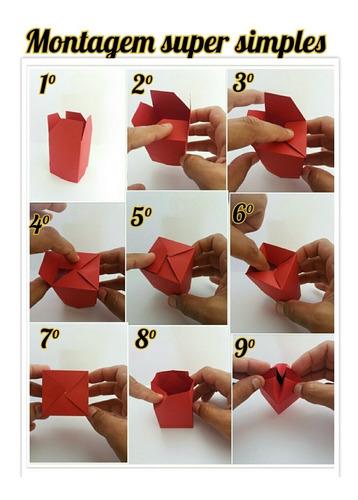 150 caixinhas embalagem bombom casamento papel 5x5x3cm