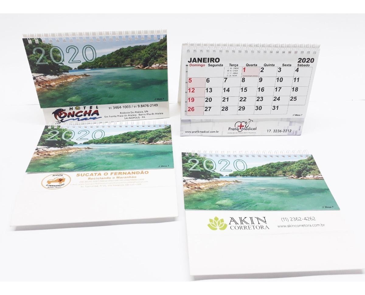 Calendario Golf 2020.150 Calendario De Mesa Personalizada 2020 Folhinha Espiral