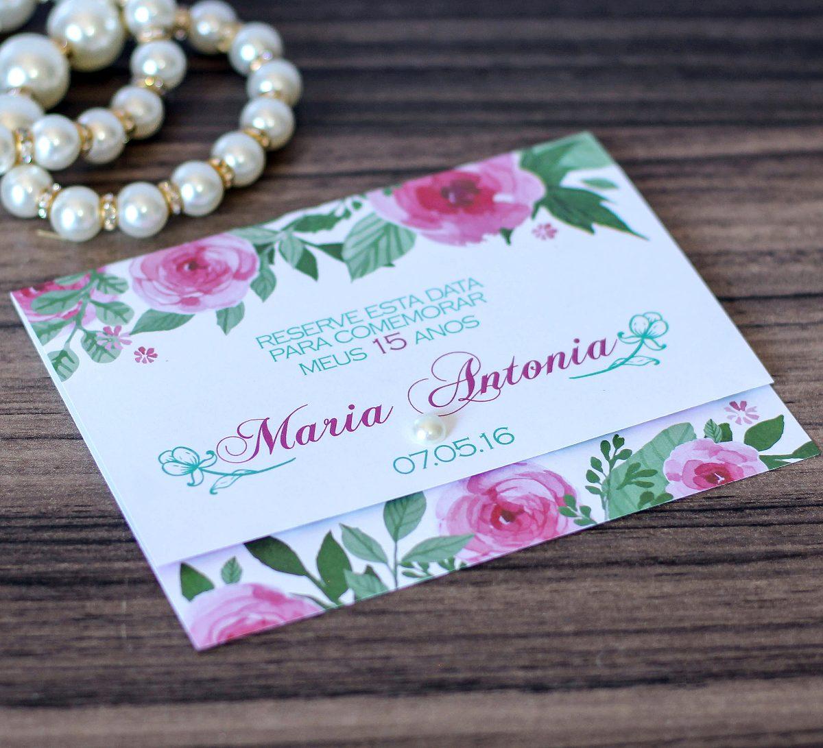 08045976f 150 convites de 15 anos barato personalizado floral papel. Carregando zoom.