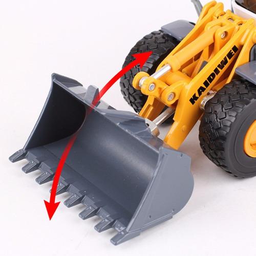 1:50 escala cargador frontal loader diecast full metal