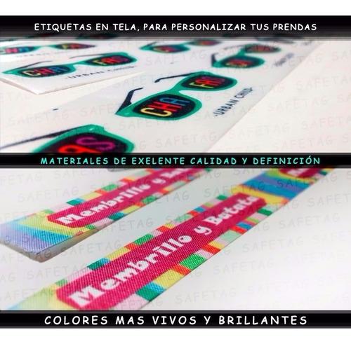 150 etiquetas ropa tela coser - textiles logos marcas indumentaria autoadhesivas poliamidas saten planchables termotrans