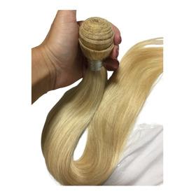 150 Gramas! Cabelo Humano Mega Hair Loiro 55 60cm  Promoçao