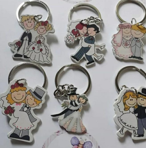 150 llavero madera recuerdo boda matrimonio union + envío