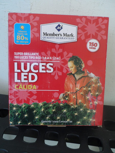 150 luces tipo red super brillante member's mark