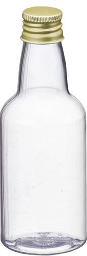 150 mini garrafa garrafinha pet cristal 50ml tampa de metal