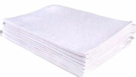 150 panos de copa / prato grande branco liso com bainha
