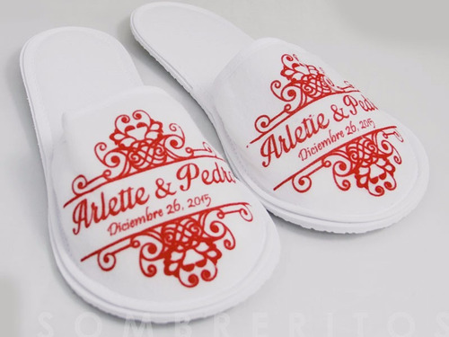 150 pares de pantuflas dubetina personalizadas con impresion