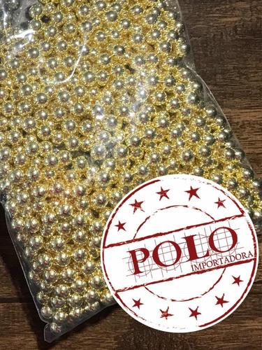 150 pérolas douradas 6mm c/ rebites artesanato